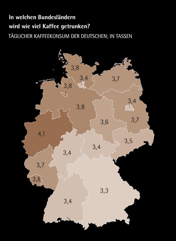 Infografik Deutschland Kaffeekosum