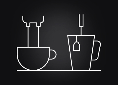 Parallel coffee and hot water preparation